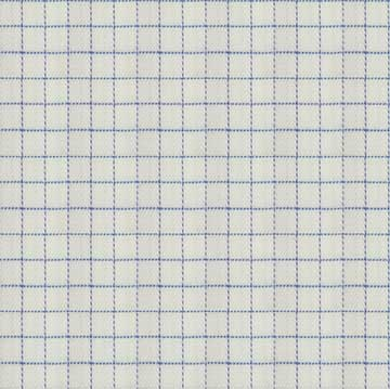 White Checkered with Proferated Blue lines